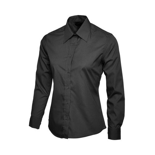 Ladies Poplin Full Sleeve Shirt [L] (black) (Art.-Nr. CA459117)