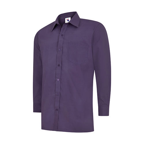 Mens Poplin Full Sleeve Shirt [2XL] (Purple) (Art.-Nr. CA459187)