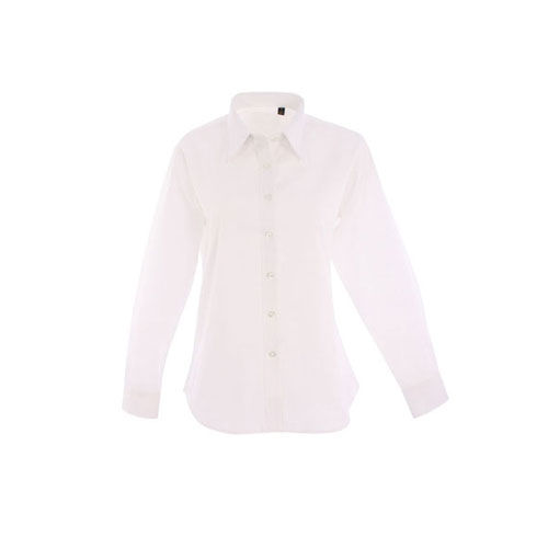 Ladies Pinpoint Oxford Full Sleeve Shirt [XL] (white) (Art.-Nr. CA459502)
