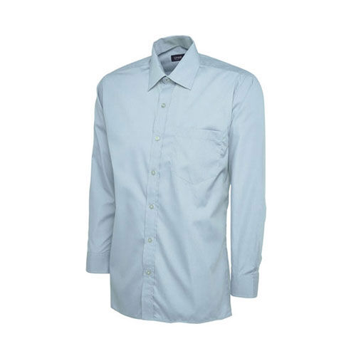 Mens Poplin Full Sleeve Shirt [3XL] (Light Blue) (Art.-Nr. CA461485)