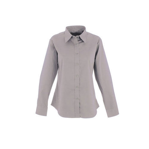 Ladies Pinpoint Oxford Full Sleeve Shirt [S] (silver grey) (Art.-Nr. CA515190)