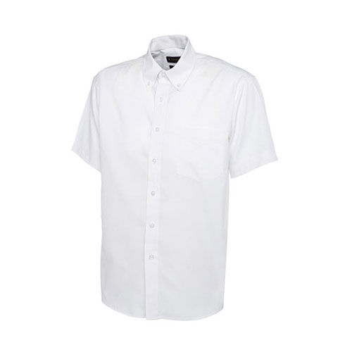 Mens Pinpoint Oxford Half Sleeve Shirt [L] (white) (Art.-Nr. CA648855)