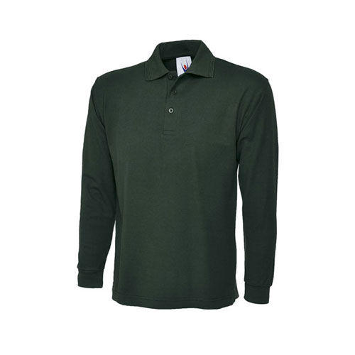 Longsleeve Poloshirt [L] (bottle green) (Art.-Nr. CA879159)