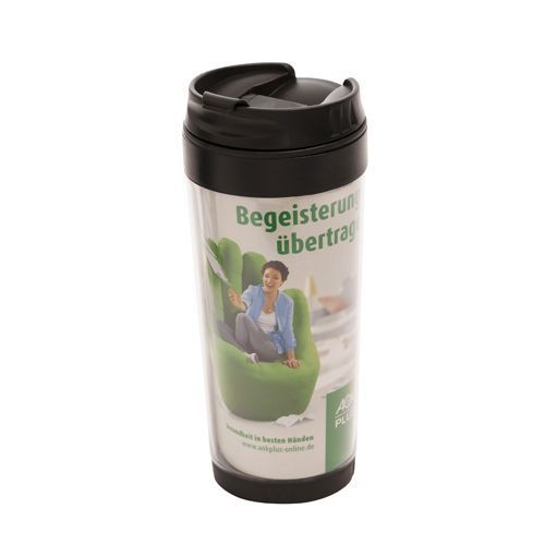 Thermobecher 0,4l, Thermoman (schwarz, transparent) (Art.-Nr. CA897857)