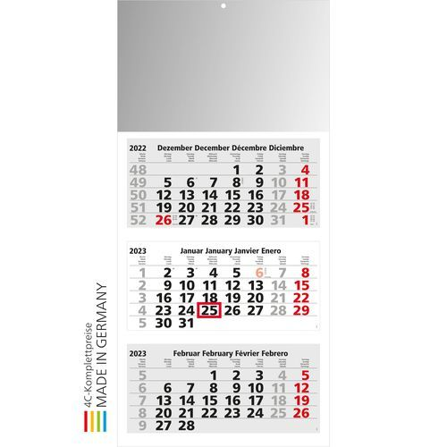 Kalender Medium Light 3 Bestseller (hellgrau) (Art.-Nr. CA259668)
