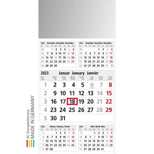 Kalender Commerce 5 Post A Bestseller (hellgrau) (Art.-Nr. CA713148)