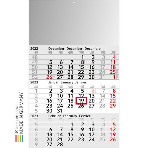 Kalender Budget 3 x.press (hellgrau) (Art.-Nr. CA871177)