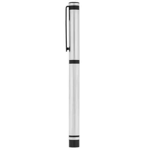 STAIN . Rollerball mit Kappe STAIN (Satinsilber) (Art.-Nr. CA634688)