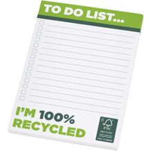 Desk-Mate® A6 recycelter Notizblock [Gr. 25 pages] (weiss) (Art.-Nr. CA600477)