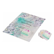 Lipcare Cube Card - Individuell bedruckte Karte mit Lipcare Cube inkl. Doming (Farbe Tiegel: transparent) (Art.-Nr. CA545782)