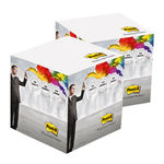 Post-it® Notes Würfel ca. 7x7x7 cm 70.00 x 70.00 mm 4/0 fbg. (weiß) (Art.-Nr. CA876338)