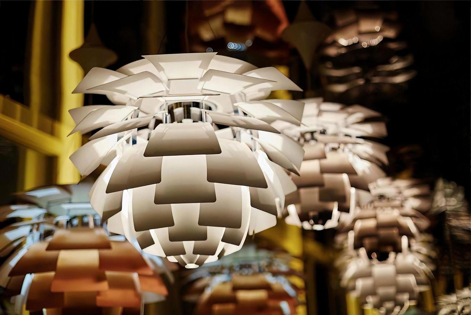 PH Snowball Pendant designed by Poul Henningsen