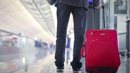 airport suitcase walking