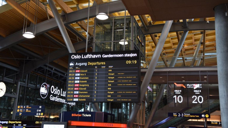 Oslo airport train station
