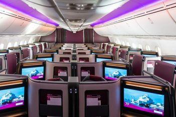 Aboard Qatar's new Boeing 787-9 Business Class