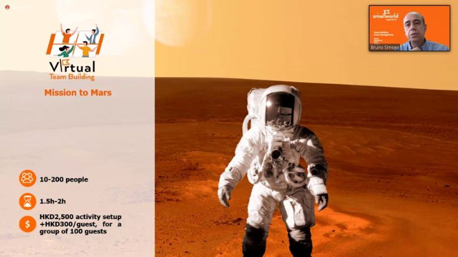 There is still a real need for team-building, says smallWorld Experience. Pictured: Mission to Mars