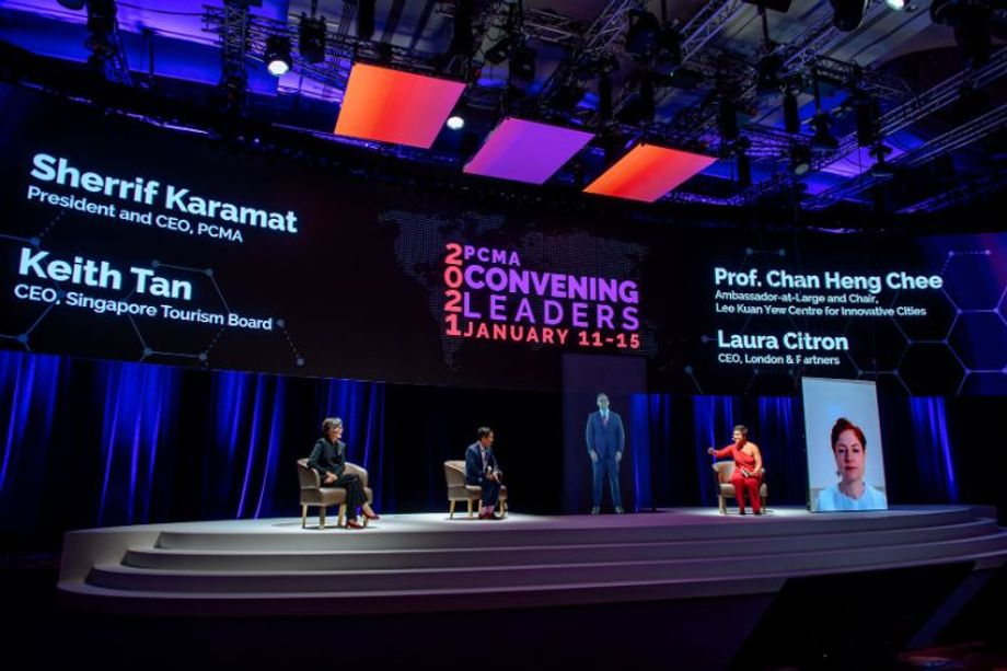 Singapore engaged audiences in new ways at PCMA Convening Leaders 2021, where PCMA President and CEO, Sherrif Karamat, appeared as a live hologram.