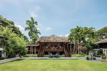 Fly in a private jet and into your exclusive 1800s Thai mansion
