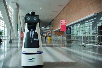 HKCEC welcomes 5G smart robot