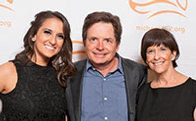 Lauren Mahoney (left) with Michael J. Fox and her mom