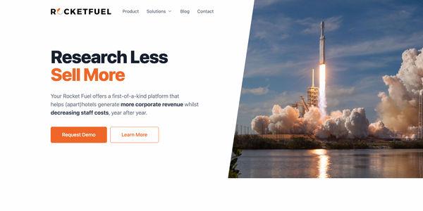 STARTUP STAGE: Your Rocket Fuel helps hotel sales teams generate corporate revenue