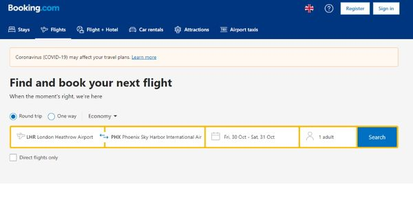 Booking.com launches flight search and booking in the U.S.