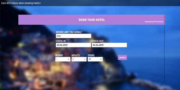 BTU Hotel blockchain booking platform