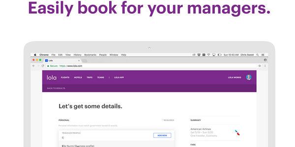Lola adds desktop book on behalf