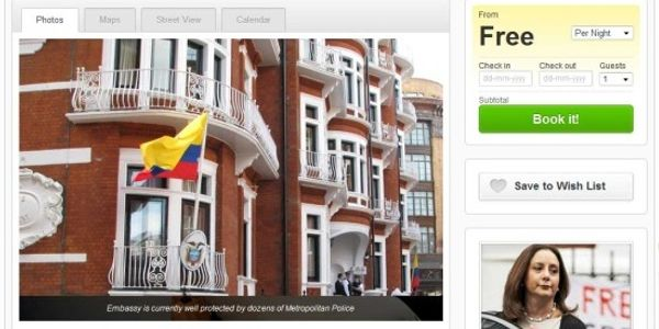 Julian Assange used Airbnb to find his Ecuador Embassy home in London - maybe