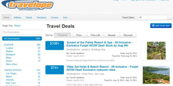 Travelope brings every travel deal under one roof