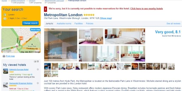 Massive discount on Booking.com sees 2014 run on reservations at London hotel