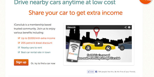 iCarsClub aims to conquer the peer to peer car rental market in Asia