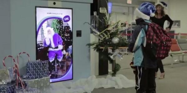 Digital Santa gives WestJet passengers a surprise gift [VIDEO]
