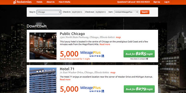 $6.5 million in financing for RocketMiles, which offers miles for hotel bookings