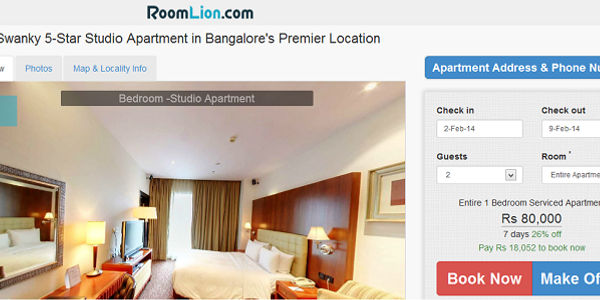 Startup pitch: RoomLion aims for global marketplace for serviced apartments