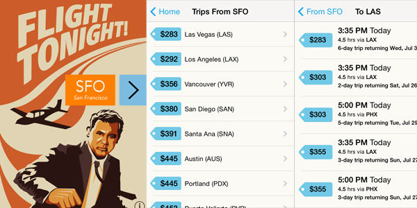 The Flight Tonight app aims to bring spontaneity to the masses