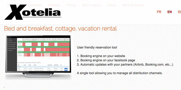 Startup pitch: Xotelia is a channel manager for B&Bs, villas, and chalets