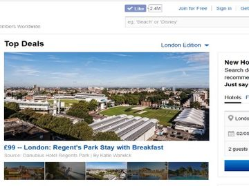 Travelzoo wants place as alternative to Expedia and Priceline for hotels