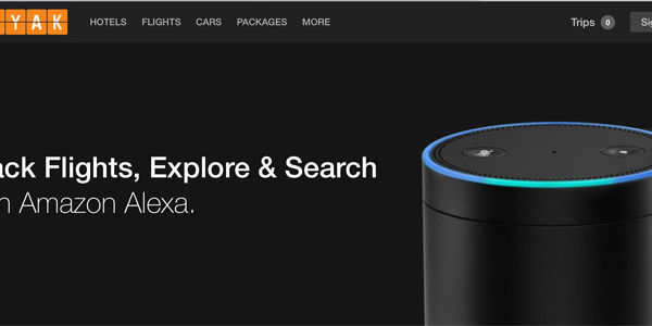 Now you can book travel by speaking to Kayak, via Amazon's Alexa