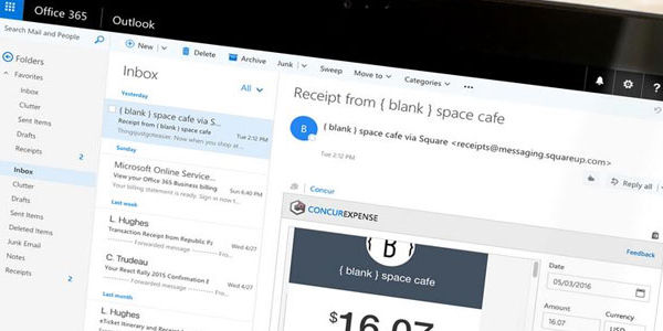 Microsoft Outlook adds Concur's travel booking and expense tools, via Office 365