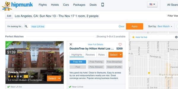 Hipmunk updates its hotel search