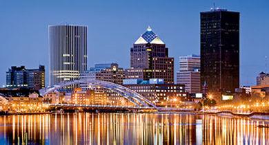 Rochester night skyline