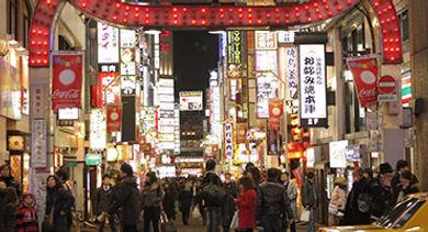 Shinjuku Kabukicho, an entertainment district in Tokyo