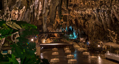 Truly unique events are held at the Valley of Gangala Cave Café set at the entrance of an enchanting network of subterranean caves.