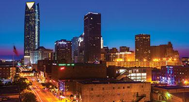 Oklahoma City night stock
