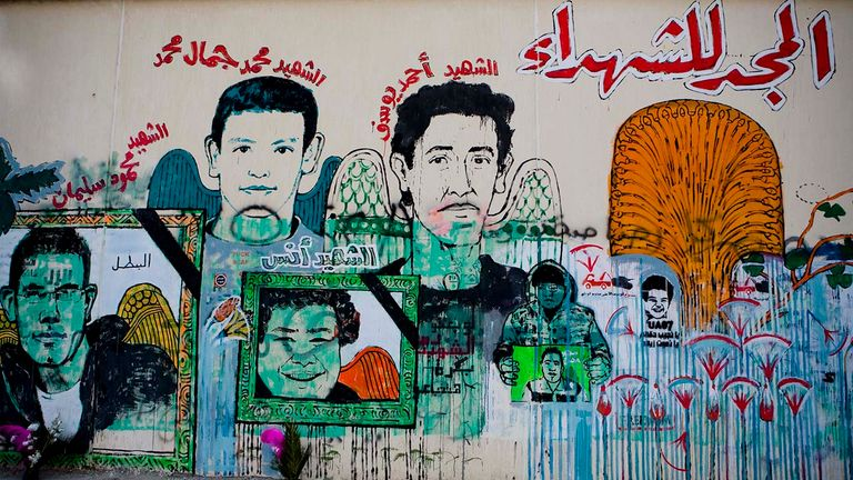 Protestors used street art to keep the memories of fallen protestors alive.