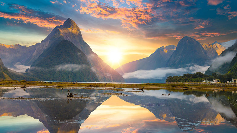 Sail through Fiordland National Park, which was once home to Maori hunters.