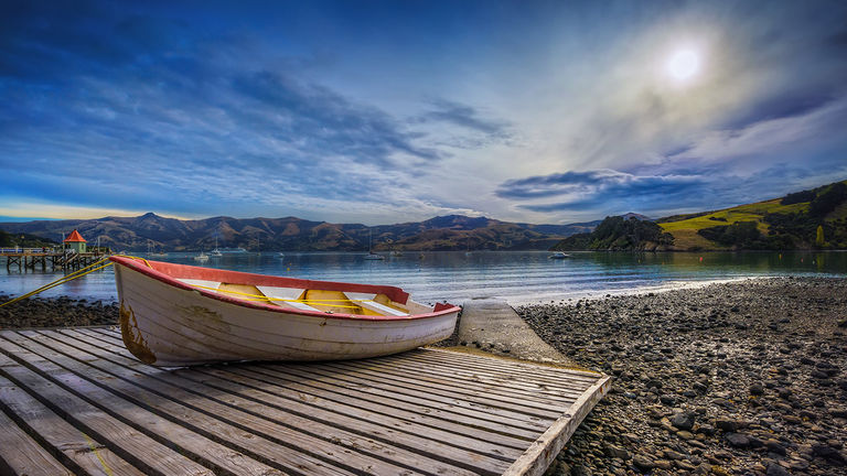 The voyage stops in Akaroa, a town near Christchurch.