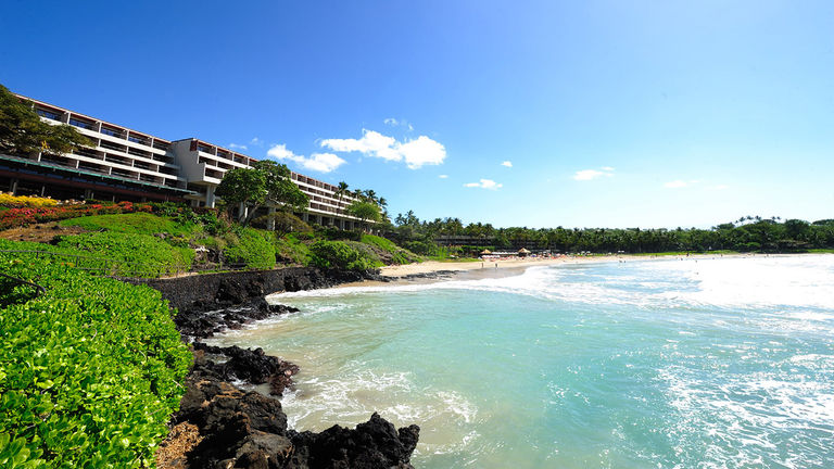 Clients get the seventh night free this fall at Mauna Kea Beach Hotel.