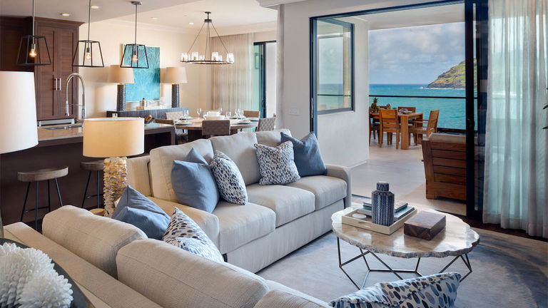 Each residence at Timbers Kauai features floor-to-ceiling windows and at least three lanais.